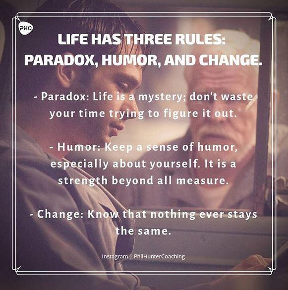 Life has Three Rules